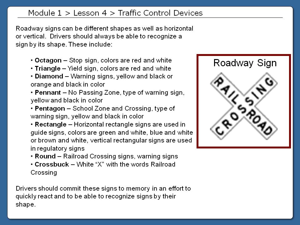 drivers ed module 1